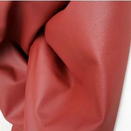 Piele naturala tapiterie rosu